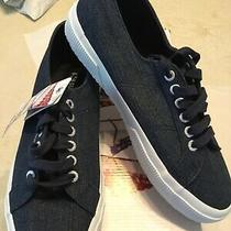 Ladies Superga  Blue Denim Shiny Sneaker New in Box Sz 8 1/2 Photo