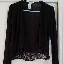 Ladies Sweater - Size S - Black - Lace Trimmed - American Rag Brand Photo