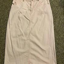 Ladies Sweet Modesty Long Pink (Blush) Jean Skirt Size Xl Photo
