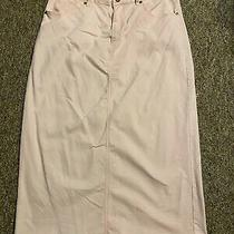Ladies Sweet Modesty Long Pink (Blush) Jean Skirt Size Xl Photo