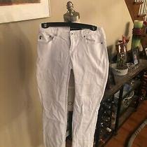 Ladies Sz 3/4 Jeans in White by Express. Straight Leg. Freeship Photo