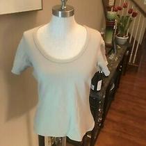 Ladies Sz Large T Shirt in Beige Nylon Mix by Express. Freeship Photo
