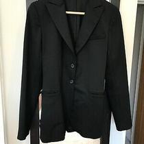 Ladies Theory Wool Jacket Blazer Black Size S Photo