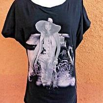 Ladies Tiffany Black Short Sleeved Stretch Cotton T-Shirt Size S (C Pics Size) Photo