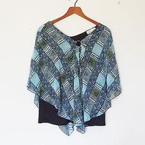 Ladies Top by Dress Barn - Poncho Style - One Size - Blue Photo