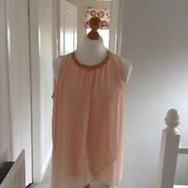 Ladies Top From Wallis L Blush With Beaded Neck. Photo