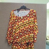 Ladies Top Nwt Grace Elements Size M Color Multi Retail Price 60.00 Photo