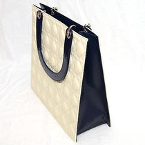 Ladies Tote Bag Cream Quilted Padding Pattern Like Dior Brand New Photo