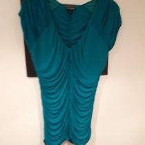 Ladies Turquoise Ruched Top Size M Photo