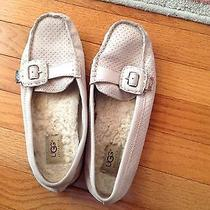 Ladies Uggs Leather Flats Moccasins Driving Shoes Blush Light Pink Size 9 Photo