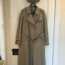 Ladies Vintage Burberry Full Length Trenchcoat With Matching Reversible Hat. Photo