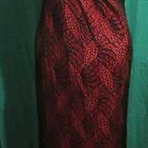 Ladies Vintage Stretch Rampage  Black Lace Over Red  Formal Dress Size L Photo