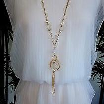 Ladies White Blouse With Necklace Photo