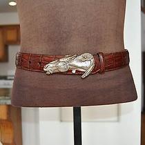 Ladies Wide Brighton Corset Belt With Horsehead Buckle Photo