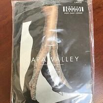 Ladies Wolford Napa Valley Dusty Green Patterned Tights Brand New Large Photo