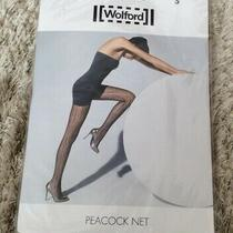 Ladies Wolford Peacock Net Tights - Graystone Size S - New & Sealed Photo