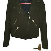 Ladies Women Lovely Khaki Fitted Blazer Jacket Overcoat Size 8-10 by Zara  Photo