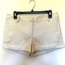 Ladies Women's Size 4 Express Gold Dress Shorts Photo