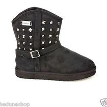 Ladies/womens Black Studded Diesel Snow Boots  Photo