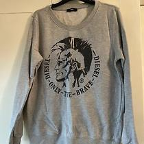 Ladies Womens Diesel Grey Sweatshirt Jumper Sweater Size M - 100% Genuine Photo