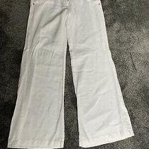 Ladies Xoxo Linen White Palazzo Trousers Size 16 Macys Photo