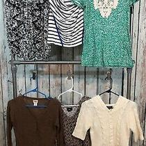 Ladies Xs Lot of 6 Blouse Shirts Cardigans Sweaters Express Mossimo Merona Photo