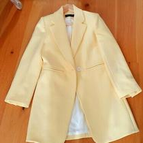 Ladies Yellow Zara Coat Size Xs New Photo