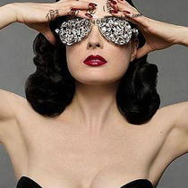 Lady Gaga Fancy Photoshot Show Bling Bling Sunglass Eye Decoration Photo