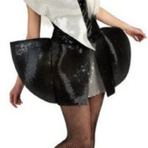 Lady Gaga Pop Rock Star Sequin Fancy Dress Halloween Teen Adult Costume 2 Colors Photo