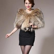 Lady New Real Raccoon Fur Scarf Stole Shawl Cape Wrap Collar A2 Photo