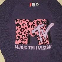 Ladys Womens Sweater Mtv by Divided h&m Dark Purple Us 2 Euro 32 Mtv Music Tv  Photo