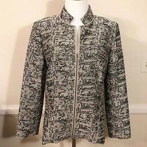 Lafayette 148 Amazing Texture Silky Light Zip Front Jacket / Blazer Size M 598 Photo