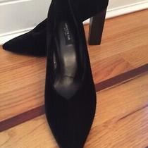 Lafayette 148 Black Velvet Pumps Size 8 Nib Photo