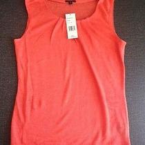 Lafayette 148 Medium Women's Linen Tank in Sunset Photo