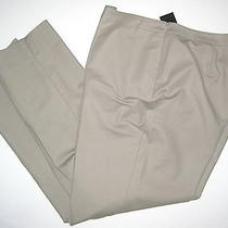 Lafayette 148 Mica Khaki Beige 18 Bleecher Stretch Cotton Casual Pants 298 Nwt Photo
