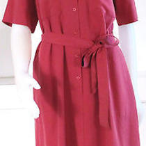 Lafayette 148 New York Silk Tie Front Dress in Tuscan Red - Large  Nwt  298 Photo