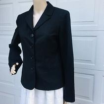 Lafayette 148 New York Sz 6 Small S   Black Jacket Blazer Stretch Wool Lined Photo