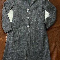 Lafayette 148 New York  Womans Wool Blazer Coat Dark Gray 3 Buttons Size 4 Photo