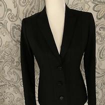 Lafayette 148 New York Womens Black Blazer Jacket Size 0 Euc Photo