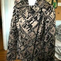Lafayette 148 Ny Sz 0 Black Bronze Metallic Jacket With Zip Detail Photo