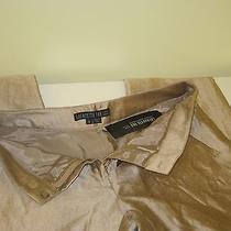Lafayette148 Pure Row Silk Gold Metallic Pant Size 6 Photo