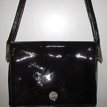 Lagerfeld - Chanel Vintage Black Patent Leather W/ Sterling Silver Hardware Bag Photo