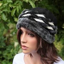 Lamb Fur Hat Gabi 05 Fur Hat Hood Caps Headpiece Leather Hat New Photo
