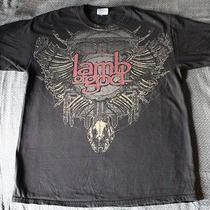 Lamb of God Band Shirt Metal Size Medium Photo