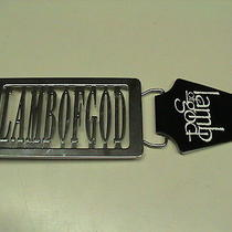 Lamb of God Belt Buckle New Photo
