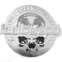 Lamb of God - Pure American Metal Skull Logo Belt Buckle - New Photo