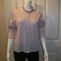Lamberto Losani for Cashmere Etc. Blush Pink Cardigan 9 Mother of Pearl Button Photo