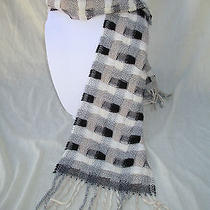 Lambs Wool/acrylic Woven Long Scarf Made in Italy Photo
