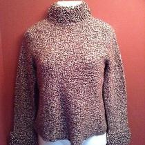 Lambs Wool & Rabbit Fur Sweater Size Small Brown-White  Photo