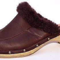 Lamo Glazed Cactus Leather Platforms Mules Wedges Lamb Skin Shoes Warm 6 Photo
